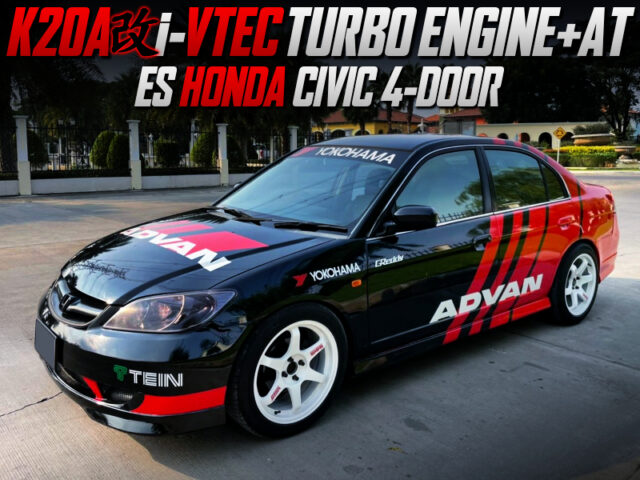 TURBOCHARGED K20A i-VTEC SWAPPED ES CIVIC 4-DOOR.