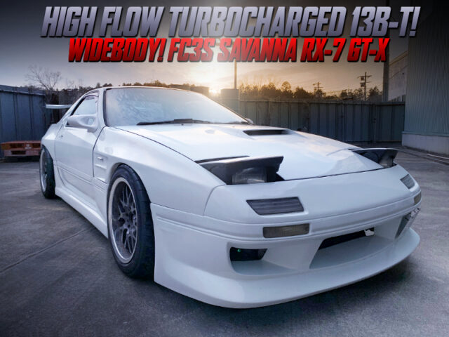 HIGH-FLOW TURBOCHARGED FC3S SAVANNA RX-7 GT-X WIDEBODY.
