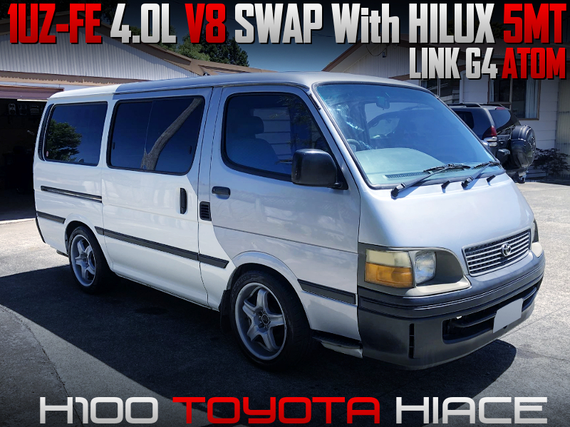 1UZFE 4000cc V8 SWAP With HILUX 5MT into H100 HIACE.