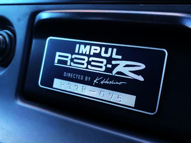 IMPUL R33-R SERIAL PLATE NUMBER.