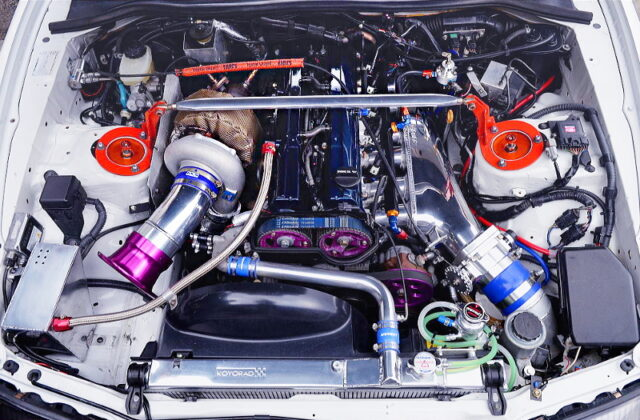 2JZ-GTE with HKS 3.1L KIT and T88-38GK SINGLE TURBO.