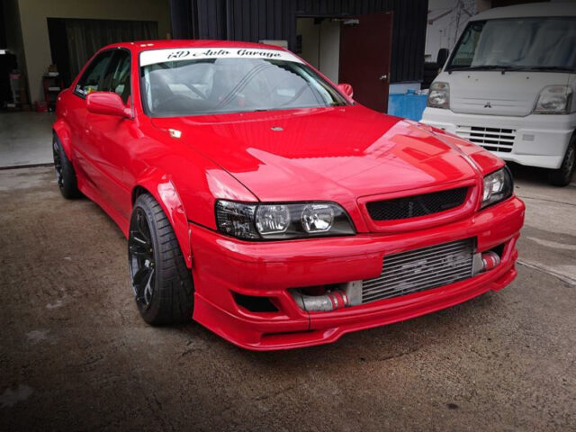 FRONT EXTERIOR OF JZX100 CHASER to DRIFT CAR.
