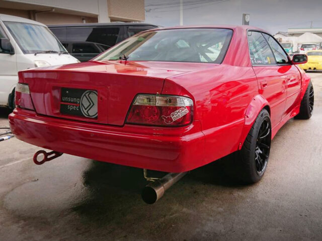 REAR EXTERIOR OF JZX100 CHASER to DRIFT CAR.
