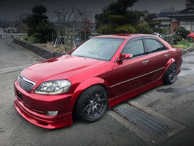 FRONT EXTERIOR OF JZX110 MARK 2 RED.