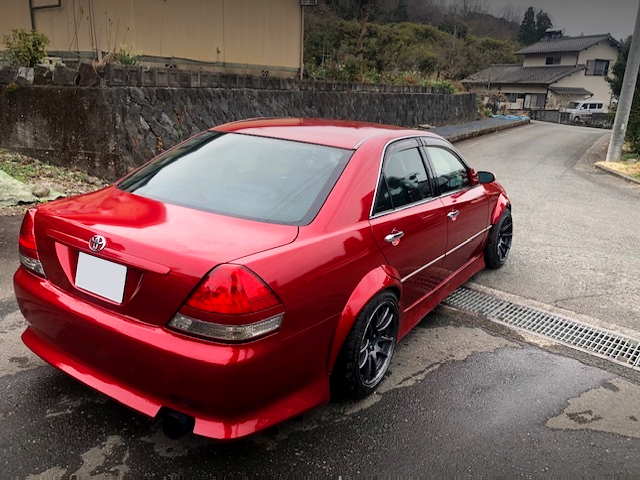 REAR EXTERIOR OF JZX110 MARK 2 RED.