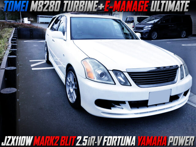 TOMEI M8280 TURBO and E-MANAGE ULIMATE INTO JZX110W MARK2 BLIT iRV FORTUNA YAMAHA POWER.