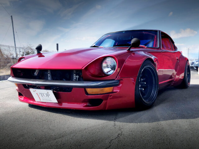 FRONT EXTERIOR OF S30 DATSUN 240Z.
