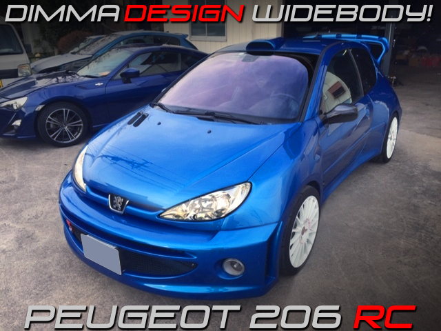 DIMMA DESIGN WIDEBODY INSTALLED PEUGEOT 206 RC.