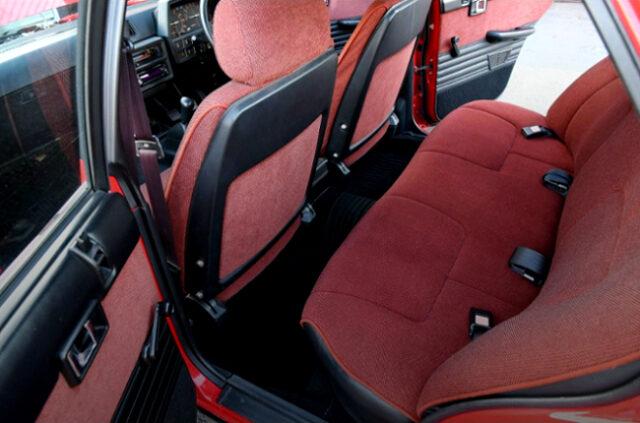 SEATS OF DR30 SKYLINE 4-DOOR.
