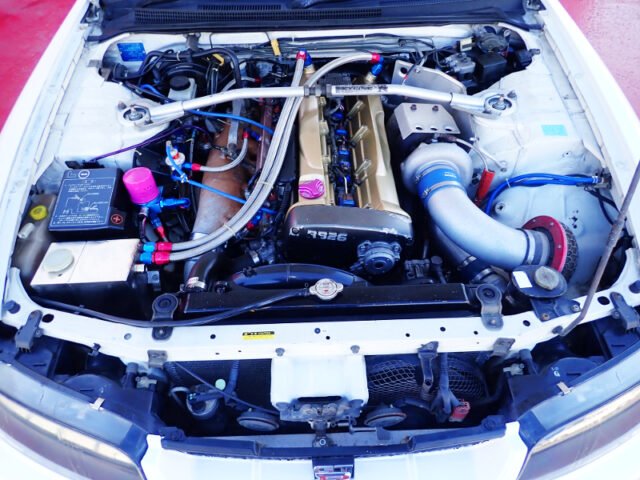 RB26 with HKS SINGLE TURBO.