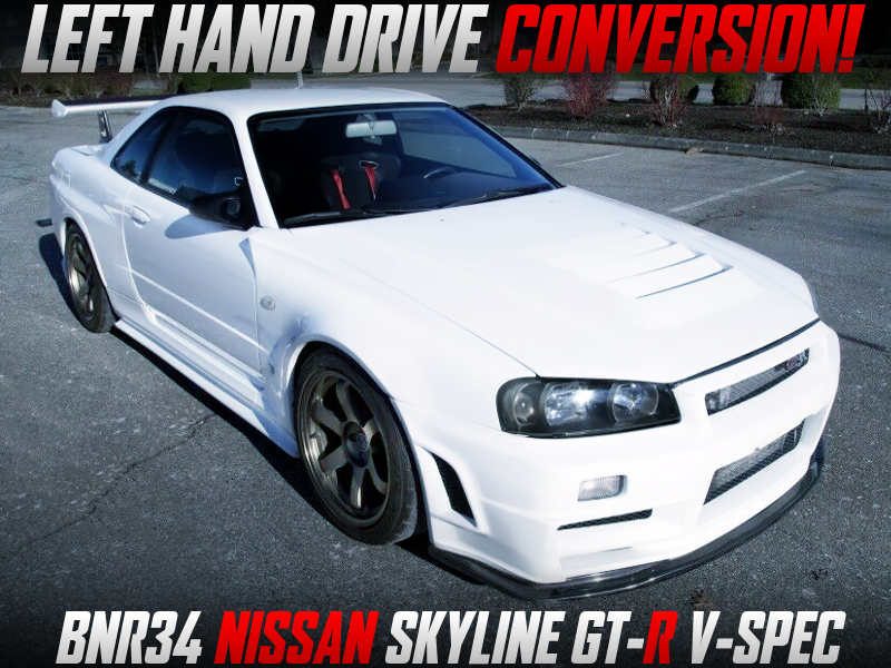 LEFT HAND DRIVE CONVERTED R34 GT-R V-SPEC.
