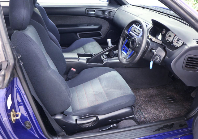 INTERIOR OF S14 SILVIA to BLUE PAINT.