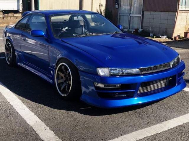 FRONT EXTERIOR OF S14 SILVIA to BLUE.