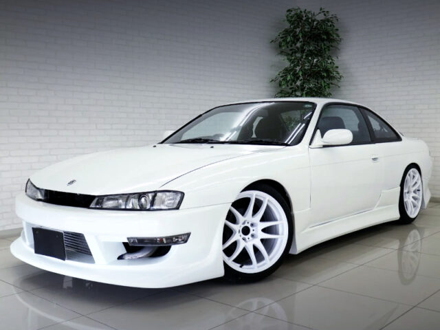 FRONT EXTERIOR OF S14 SILVIA to KOUKI FRONT END CONVERSION.