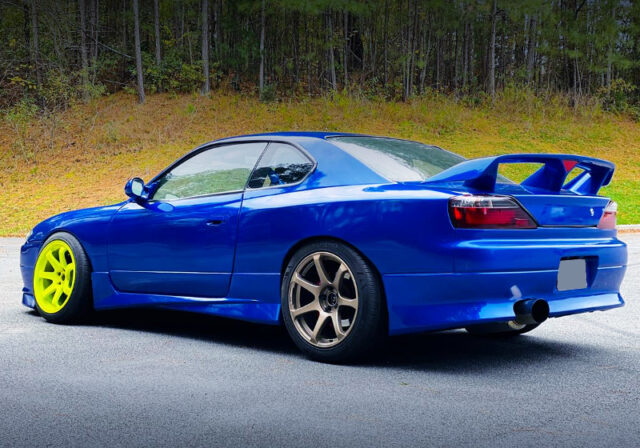 REAR EXTERIOR OF S14 240SX TO S15 CONVERSION.