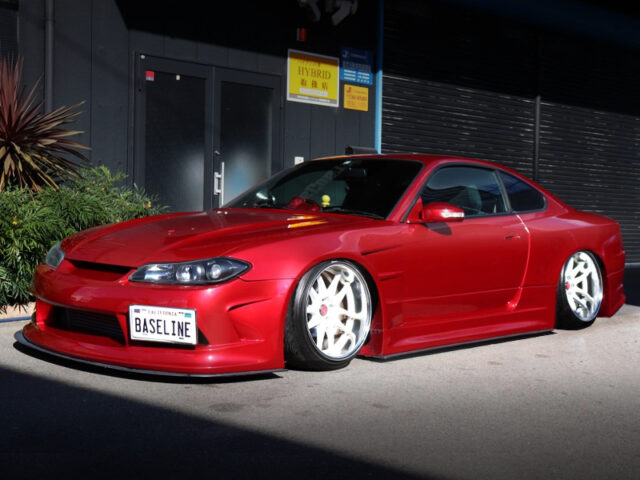 FRONT EXTERIOR OF S15 SILVIA EDGE WIDEBODY.