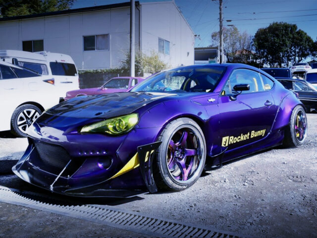 FRONT EXTERIOR OF TOYOTA 86 ROCKET BUNNY WIDEBODY.