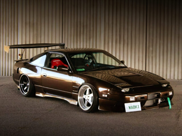 FRONT EXTERRIOR OF 180SX TYPE-X WIDEBODY with BMW BROWN.
