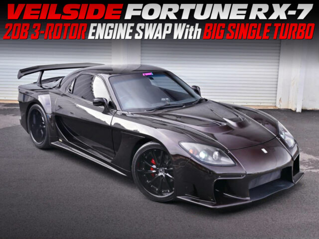 20B 3-ROTOR with SINGLE TURBO into VeilSide FORTUNE RX7.