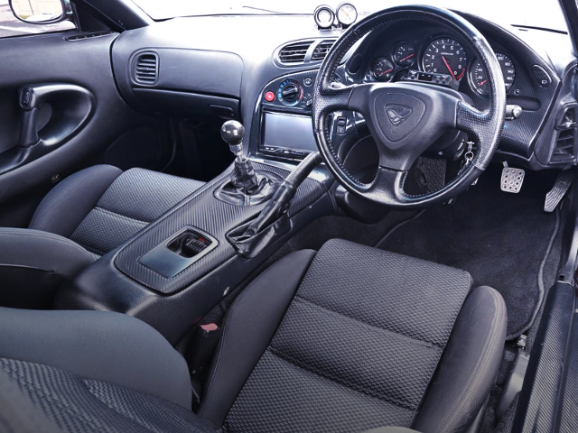 DASHBOARD and STEERING OF VeilSide FORTUNE RX-7.