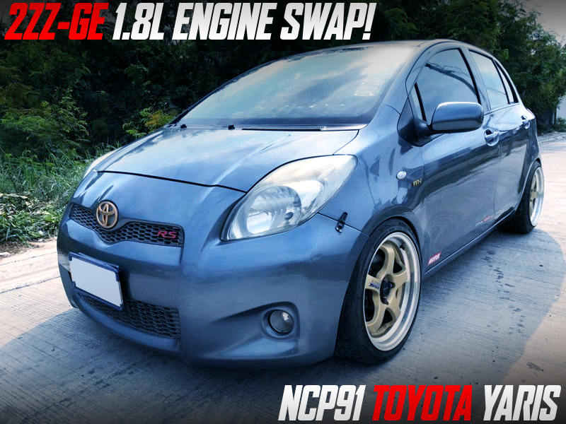 2ZZ-GE 1.8L SWAPPED NCP91 YARIS.
