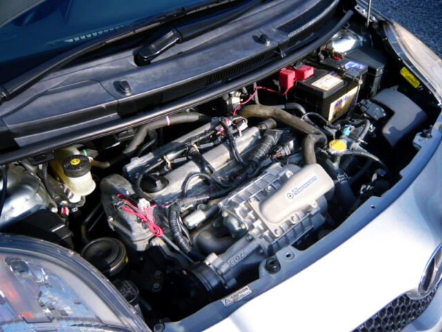 1NZ-FE ENGINE With BLITZ SUPERCHARGER.