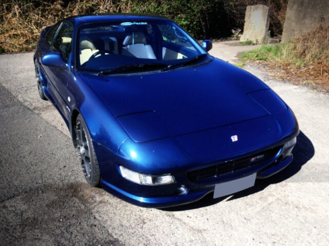 FRONT EXTERIOR OF 2nd Gen MR2 OF BLUE PAINT.