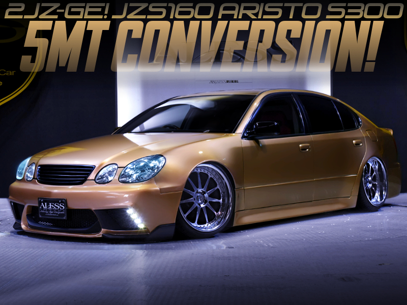 5MT CONVERSION OF JZS160 ARISTO WIDEBODY and GOLD PAINT.
