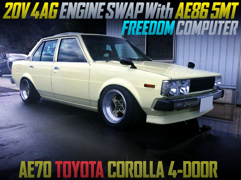 20V 4AG with AE86 5MT and FREEDOM ECU into AE86 COROLLA 4-DOOR.