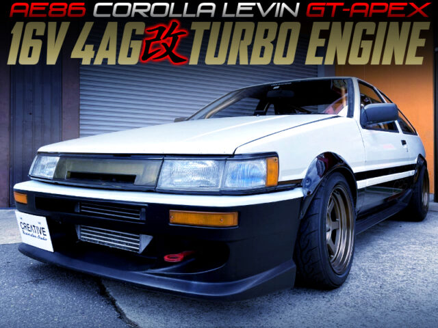 TURBOCHARGED 4AG 16-VALVE into AE86 LEVIN GT-APEX.
