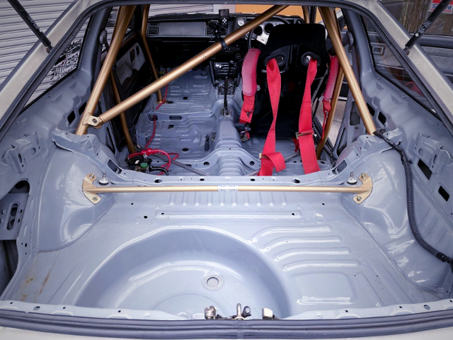 LUGGAGE SPACE OF AE86 LEVIN TURBO.