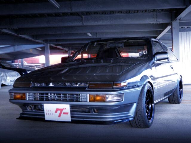 FRONT EXTERIOR OF AE86 TRUENO HATCH GT-APEX.