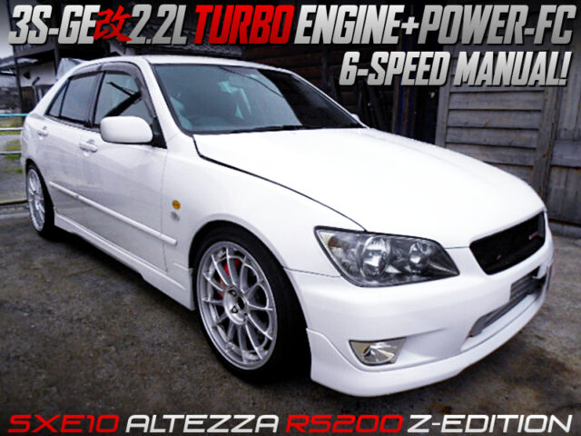 2.2L TURBOCHARGED 3S-GE into SXE10 ALTEZZA RS200 Z-EDITION.