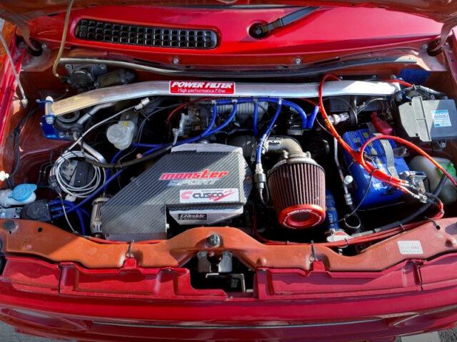 K6A ENGINE with SUZUKI SPORT N2 TURBO KIT.
