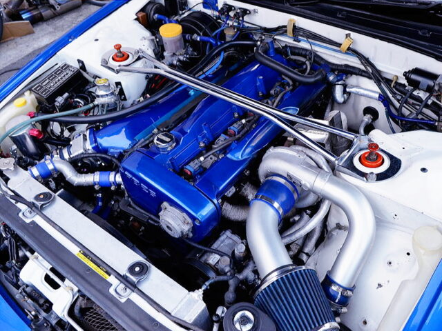 RB26 with 2.8L and RX6 SINGLE TURBO.