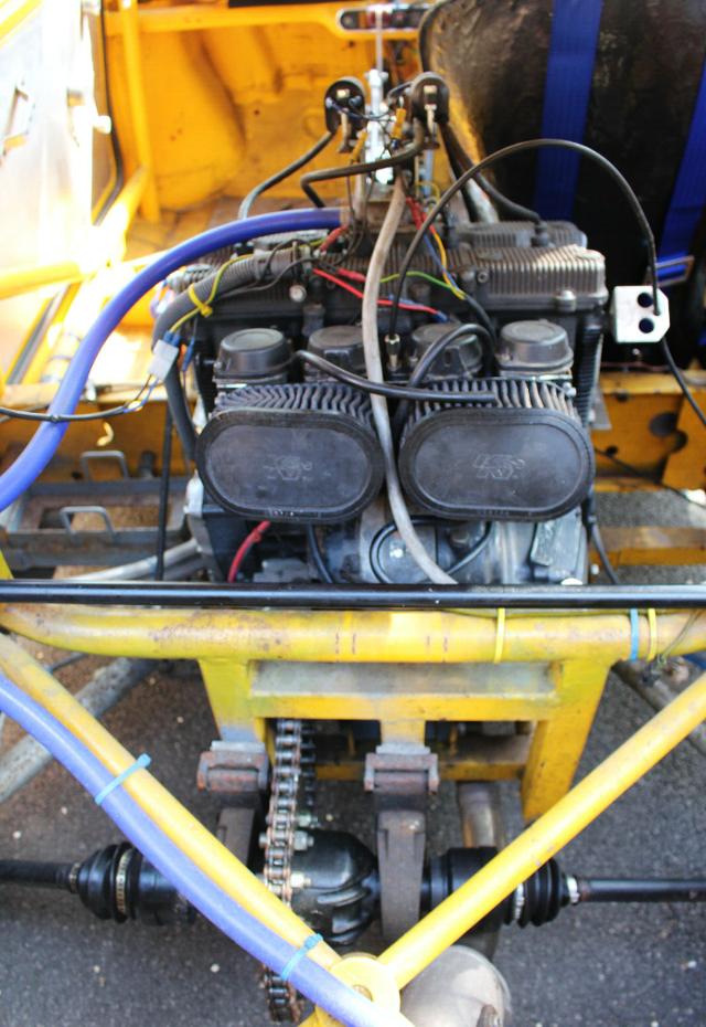 MID MOUNTED SUZUKI GSX-R1100 ENGINE.