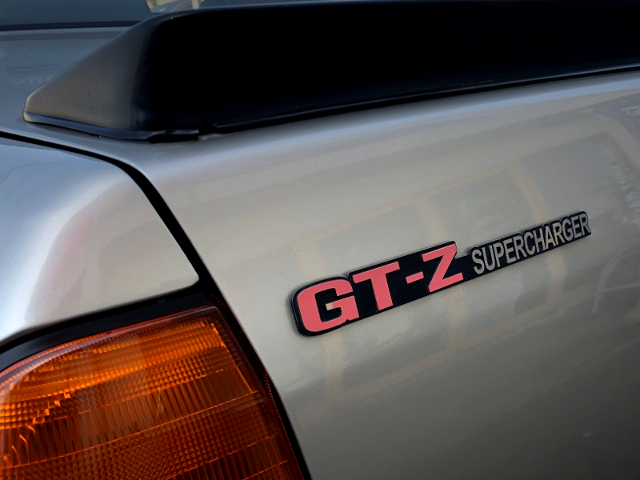 GT-Z SUPERCHARGER EMBLEM.