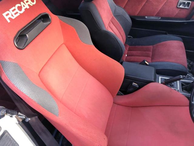 DRIVER'S RECARO SEMI BUCKET SEAT.