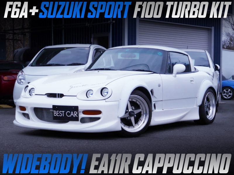 F6A with SUZUKI SPORT F100 turbo KIT into EA11R CAPPUCCINO WIDEBODY.