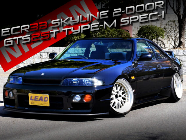 STANCED ECR33 SKYLINE 2-DOOR GTS25t TYPE-M SPEC-I.