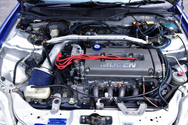 B18C 1800cc VTEC ENGINE with MUGEN HEAD COVER.