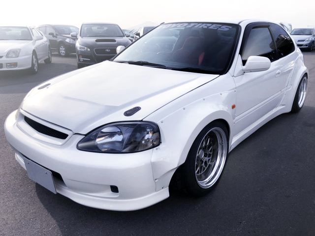 FRONT EXTERIOR OF EK9 CIVIC TYPE-R With WIDEBODY.