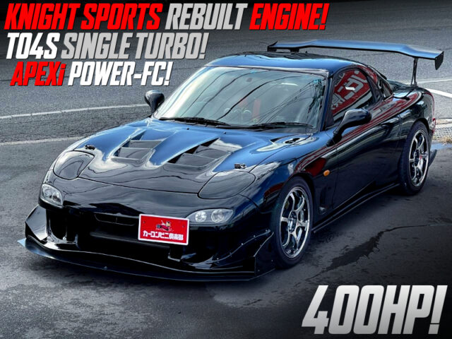 KNIGHT SPORTS REBUILT ENGINE with TO4S TURBO into FD3S RX-7.