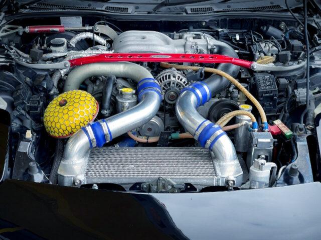 KNIGHT-SPORTS 13B-REW REBUILT ENGINE with TO4S SINGLE TURBO.