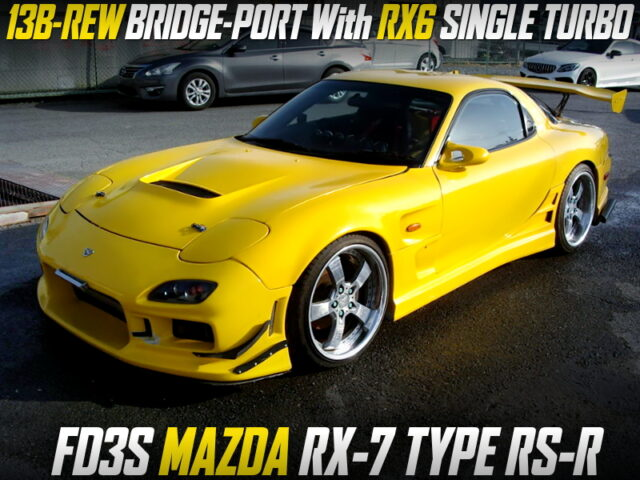 13B-REW BRIDGE-PORT With RX6 TURBO into FD3S RX-7 TYPE-RS-R Yellow.