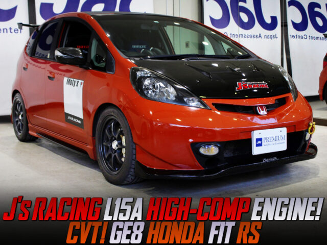 J's RACING L15A HIGH-COMPRESSION ENGINE into GE8 FIT RS.