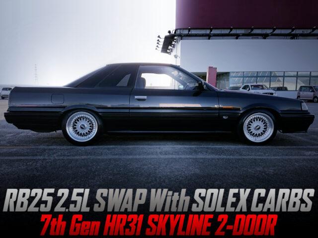 RB25DE SWAP with SOLEX CARBS into HR31 SKYLINE 2-DOOR.