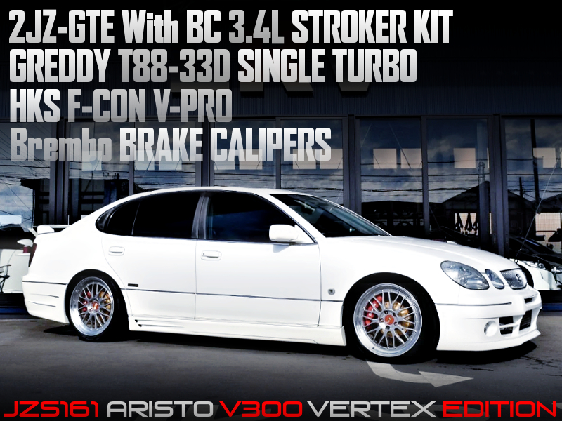 2JZ-GTE With 3.4L and T88-33D TURBO into JZS161 ARISTO.