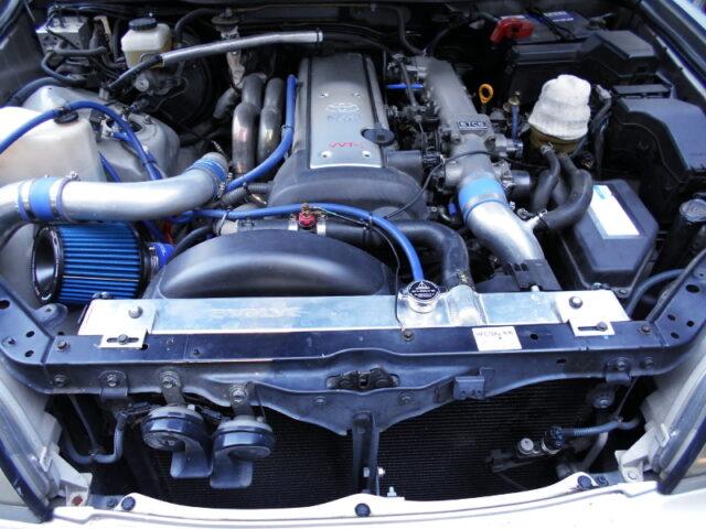 1JZ-GTE with HKS GT3 SINGLE TURBO.