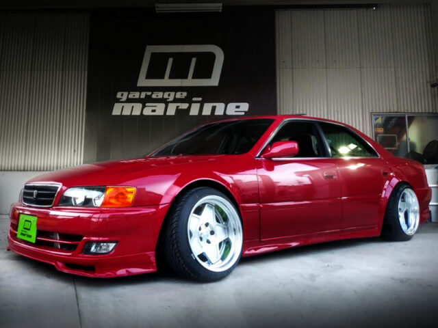 FRONT EXTERIO OF JZX100 CHASER WIDEBODY.